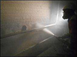 Cemento:montaje refractarios